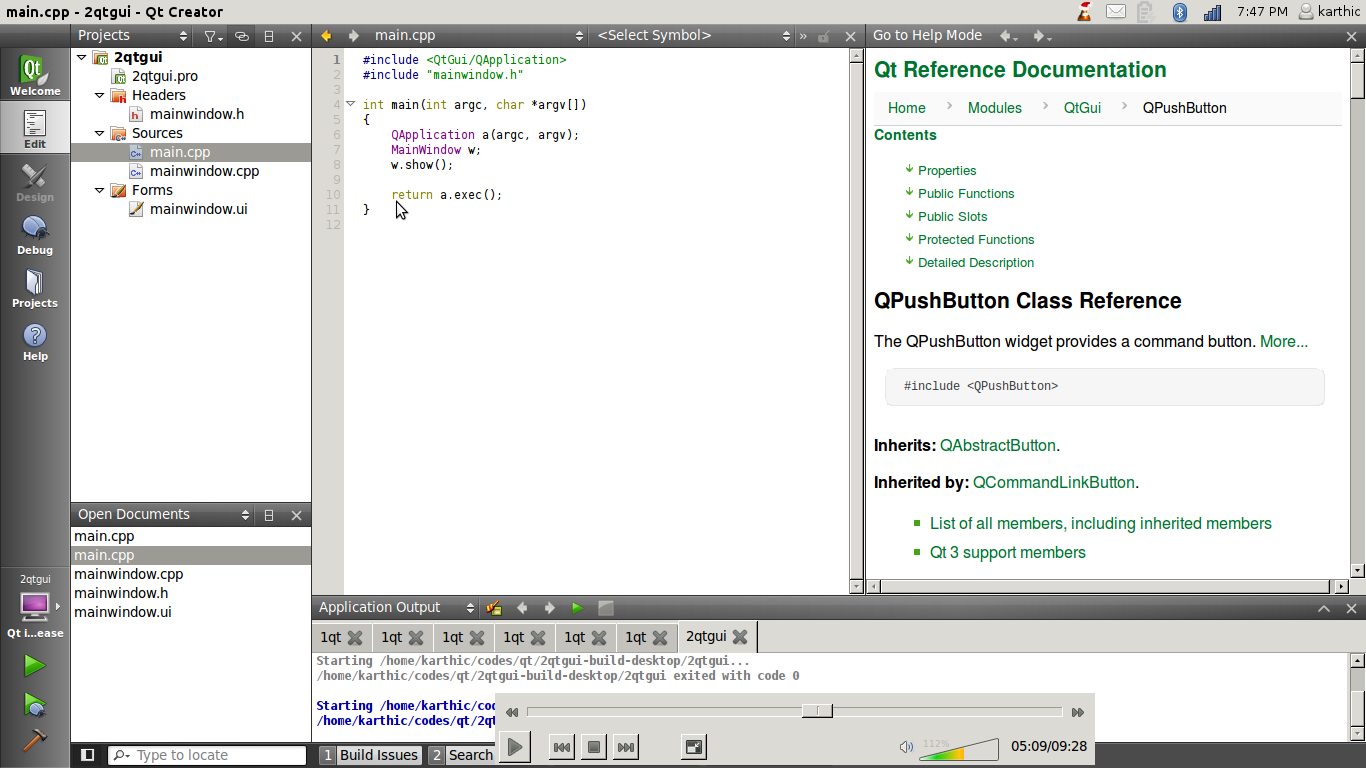 Gui programming in gnulinux hackintoshrao a look around qt creator in gnulinux 1 image baditri Images