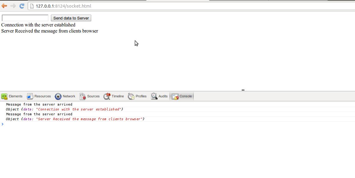 Client-Server communication using Websockets and Node JS[express