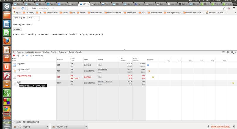 Angular posting data