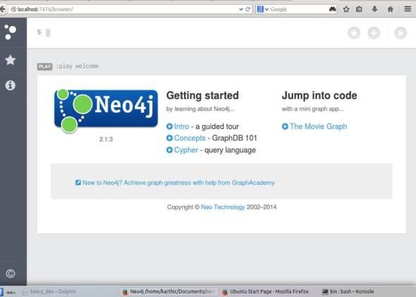Neo web interface running locally